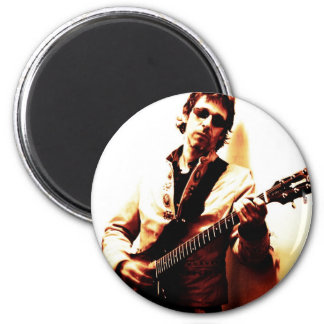 Electric Guitar Sepia 2 Inch Round Magnet