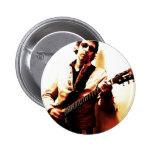 Electric Guitar Sepia Button