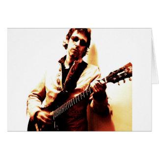 Electric Guitar Sepia Greeting Card
