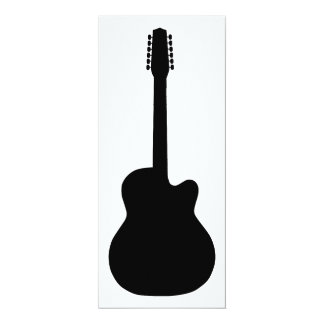 electric guitar silhouette card