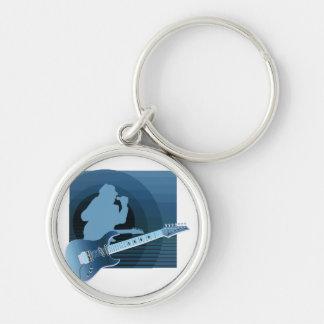 electric guitar singer  invert blue.png keychain