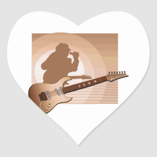 electric guitar singer orange png sticker