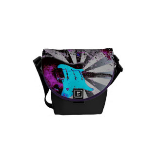 Electric Guitar Small Messenger Bag