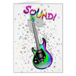 Electric Guitar Sound Colors Greeting Card