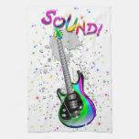 Electric Guitar Sound Colors Kitchen Towel