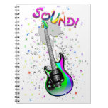 Electric Guitar Sound Colors Notebooks