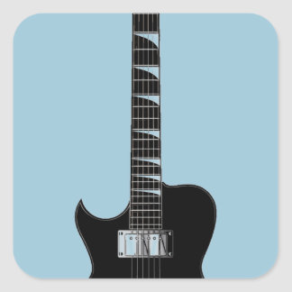 Electric Guitar Square Sticker