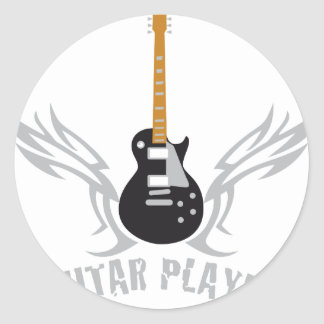 Electric guitar round stickers