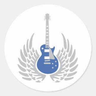 Electric guitar sticker
