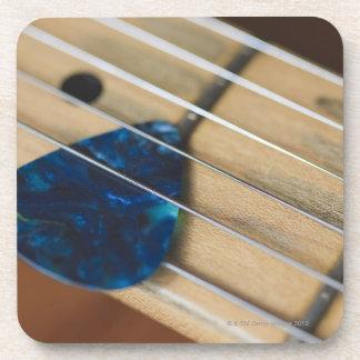 Electric Guitar Strings Beverage Coasters