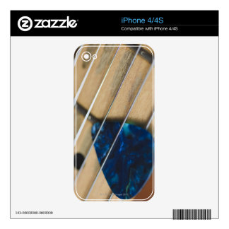 Electric Guitar Strings Decal For iPhone 4S