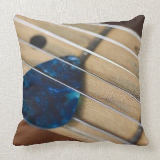 Electric Guitar Strings Throw Pillow