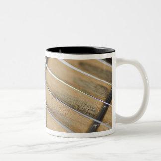 Electric Guitar Strings Two-Tone Coffee Mug