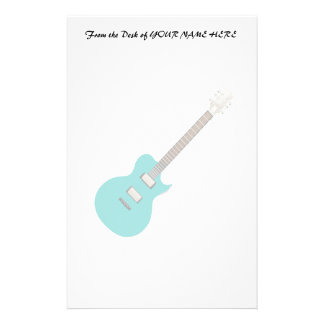 electric guitar teal.png stationery