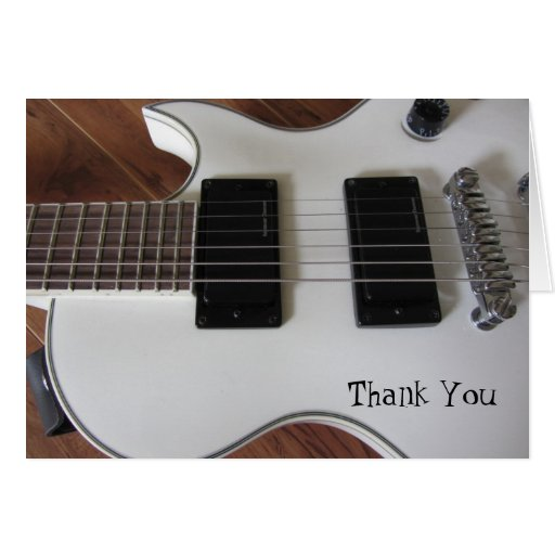 Electric Guitar Thank You Greeting Cards