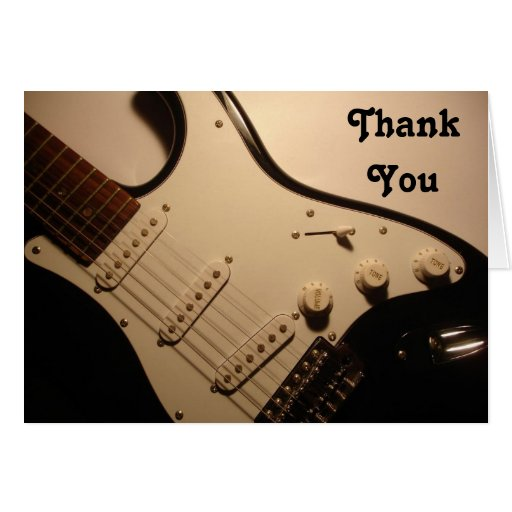Electric Guitar, Thank You Note Greeting Card