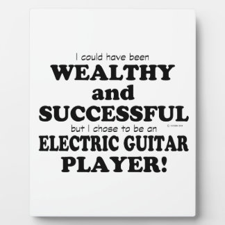 Electric Guitar Wealthy & Successful Display Plaque