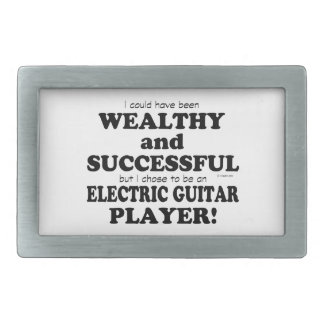 Electric Guitar Wealthy & Successful Rectangular Belt Buckle