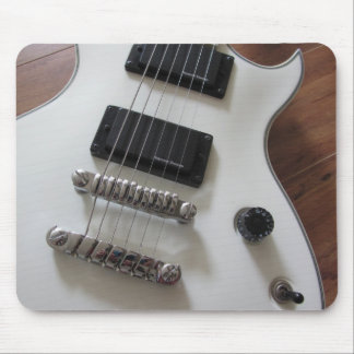 Electric Guitar - White Mouse Pad