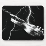 ELECTRIC GUITAR white Mouse Pads