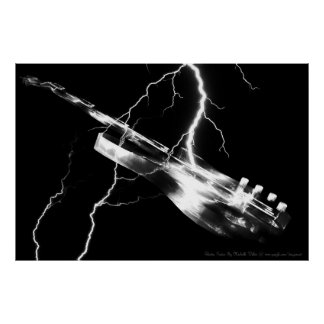 ELECTRIC GUITAR white Poster