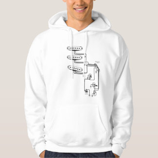 electric guitar wiring diagram hoodie