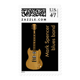 electric guitar with name postage