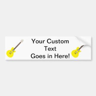 electric guitar yellow .png bumper sticker