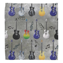Electric Guitars And Music Notes Bandana