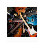 Electric Guitars Concept Postcard
