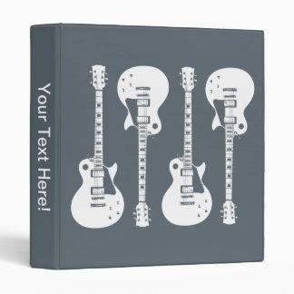 Electric Guitars Graphic 3 Ring Binder