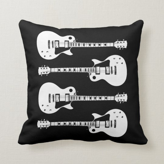 Electric Guitars Graphic Throw Pillow