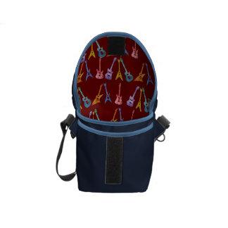 Electric Guitars Interior Pattern Messenger Bag
