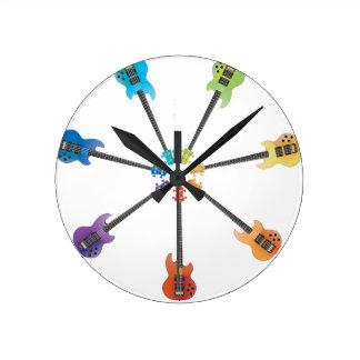 Electric Guitars Round Clock