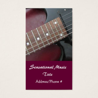 Electric Guitars Sensational Music Business Card