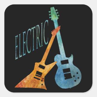 Electric Guitars Square Sticker