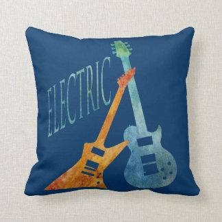 Electric Guitars Throw Pillow