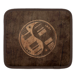 Electric Guitars Yin Yang with Wood Grain Effect Sleeves For iPads
