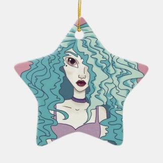 Electric Hair Ceramic Ornament