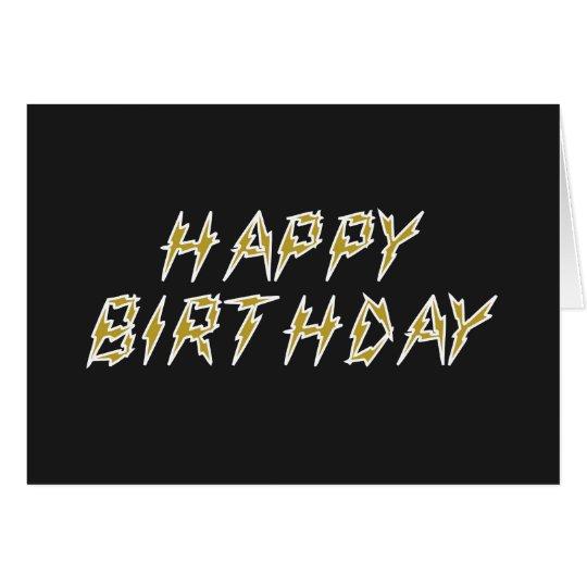 Electric Happy Birthday Card