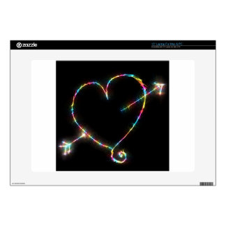 Electric Heart Laptop Decals