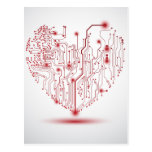 Electric Heart Postcard