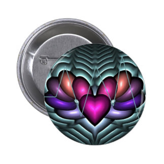 Electric Heartbeat 2 Inch Round Button