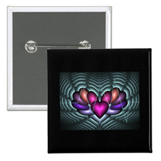 Electric Heartbeat 2 Inch Square Button