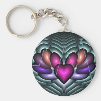 Electric Heartbeat Basic Round Button Keychain
