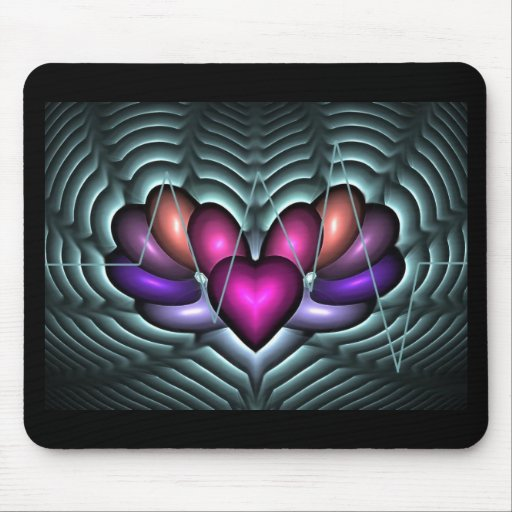 Electric Heartbeat Mouse Pad