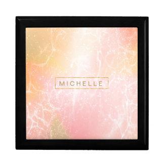Electric Holograph Gradient Pink ID371 Keepsake Box