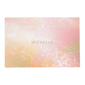 Electric Holograph Gradient Pink ID371 Placemat