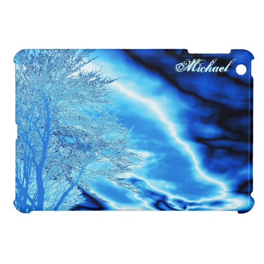 Electric Iced Blue Tree N Sky iPad Mini Case