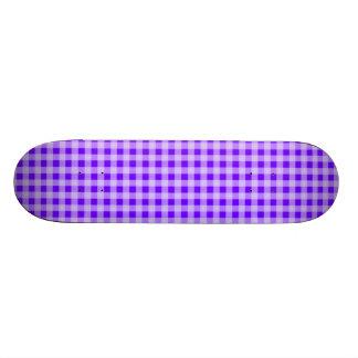 Electric Indigo Purple Gingham Custom Skateboard